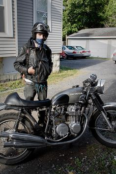 1976 Honda CB550 Cafe Racer by Hell for Rags, via Flickr