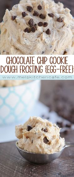 Chocolate Chip Cookie Dough Frosting {Egg-free}