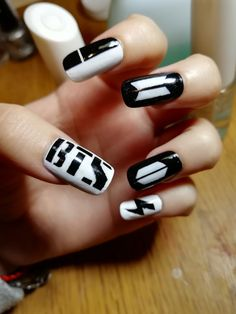 69 super ideas for korean nails art kpop K Pop Nails, Cute Nails, Hair And Nails, Korean Nail Art, Korean Nails, Nail Art Kpop, Gel Designs, Nail Art Designs, Army Nails