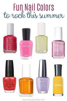 Shop for nail polish and nail care products. Indulge in the latest nail trends from top brands similar to OPI, Essie, Butter London and more. -- You can get more details by clicking on the image. (This is an affiliate link) Spring Nail Colors, Spring Nails, Summer Nails, Hard Nails, Fun Nails, Summer Beauty, Sally Hansen Nails, Manicure At Home, Yellow Nails
