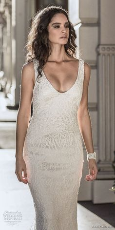 anna campbell fall 2018 bridal sleeveless v neck full embellishment elegant  sheath wedding dress open v 3a0a48c752e