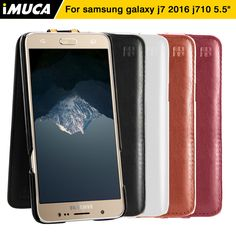 iMUCA For Samsung j7 J7 2016 J7108 cases covers flip 5.5 Samsung Galaxy J7 2016 J710 J7108 cases covers PU Leather phone cases