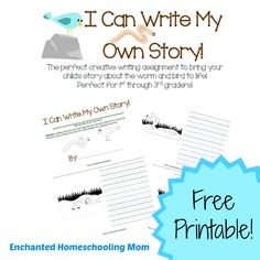FREE I Can Write My Own Story Creative Writing Printable - Enchanted Homeschooling Mom