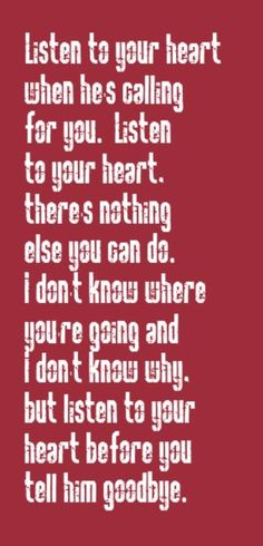 Roxette - Listen to Your Heart - song lyrics, song quotes, music lyrics, music quotes, songs