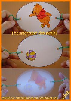 Laat de beer voetballen / Thaumatrope Action !!!