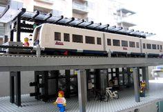Lego model of DR Byen station, Copenhagen