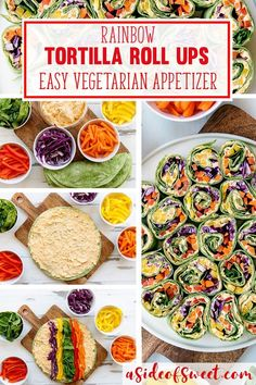 Rainbow Tortilla Pinwheels Recipe – Healthy Appetizer Rainbow Tortilla Pinwheels Recipe – Healthy Vegetarian Appetizer that is Quick and Gluten Free. Great dish to pass or picnic recipe. Easy Summer Meals, Healthy Summer Recipes, Vegetarian Recipes, Vegetarian Picnic, Vegan Picnic, Gluten Free Picnic, Vegetarian Kids, Vegetarian Italian, Beef Recipes