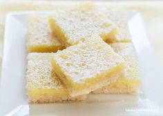 A delicious Gluten Free lemon bars recipe, made with a great gluten free shortbread crust