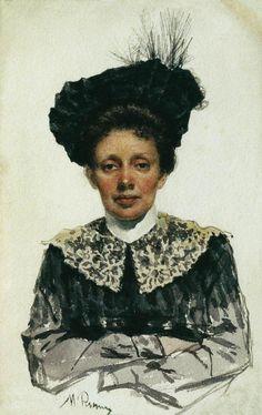 Portrait of an Unknown Woman Ilya Repin · unknown