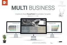 Multi Business PowerPoint Template by SlideSalad on @creativemarket