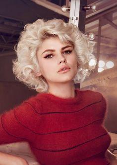 Blonde Dauerwelle