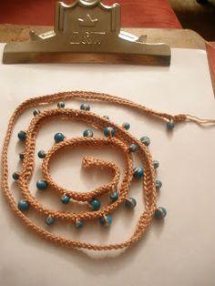Crochet bead wrap bracelet.