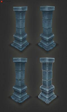 Low Poly Dungeon Pillar