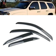 Chevrolet Suburban 1500 2007-2014 07 08 09 10 11-14 Windows Visor Sun Guard 4pcs