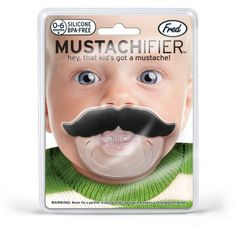 Yep the kids we don't yet have are totally going to have these. mustachifier baby pacifier