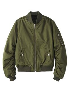 Outerwear // Look fly as ever with this moss green bomber jacket.