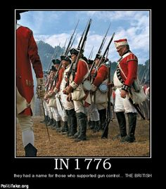 King George III wanted their guns. The Americans weren't going to give their guns. This was the start of the revolutionary war.