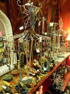Jewelry display at Magnolias in Lawrenceville