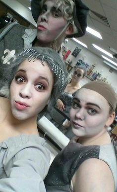 ancestors in makeup before the show