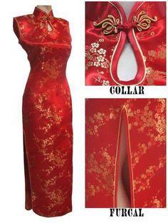 Women's Vtg Asian Red Long Chinese Wedding Dress Cheongsam Women's Vtg Asian Red Long Chinese Wedding Dress Cheongsam Tips: Please check the size chart before buying. Cheongsam, Ao Dai, Cheap Dresses, Girls Dresses, Moda China, Oriental Dress, Mode Chanel, Women's Evening Dresses, Chinese Style