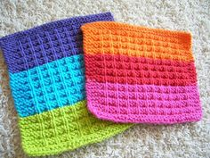 Looking for knitting project inspiration? Check out Hot & Cold Dishcloths by member iheartmytho. - via @Craftsy