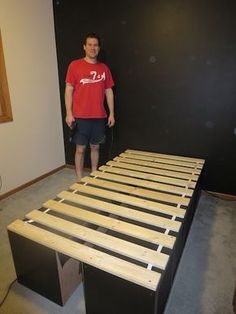 Getting New Rooms! Making a bed from Ikea Expedit shelf units and bed slats - Stamp Your Art Out! www.stampyourartout.com