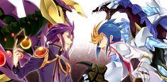Yu Gi Oh! Arc V - Yuri , starve Venom fusion Dragon, Yugo, Crystal Wing Synchro Dragon