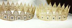 Crown adult size gold lace Swarovski crystals by GEM3Designs