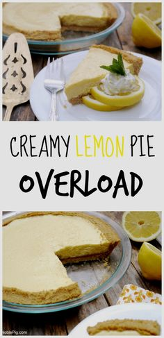 Bursting with lemon flavor in the pie and the crust, this Creamy Lemon Pie Overload is dessert perfection from NoblePig.com.