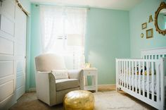Aqua and gold nursery