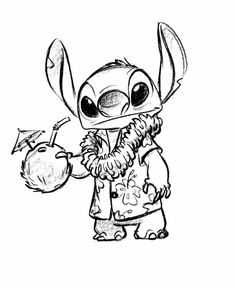 Hawaiian stitch drawings of disney characters, disney cartoon drawings, disney drawings sketches, disney Disney Character Drawings, Disney Drawings Sketches, Cartoon Drawings, Cute Drawings, Drawing Sketches, Disney Characters, Easy Disney Drawings, Drawing Disney, Drawing Cartoon Characters