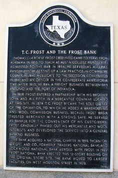 The founder of #FrostBank (T.C. Frost) became wealthy, but his personal life was beyond tragic. http://www.texansunited.com/blog/2012/04/27/t-c-frost-of-frost-bank-fame #TexasHistory
