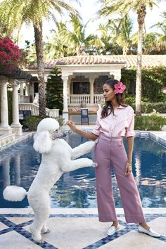 By Victoria Berezhna | Fashion Editorial: Joan Smalls by Mariano Vivanco for Harper's Bazaar May US 2017 - a Slim Aarons inspired shoot
