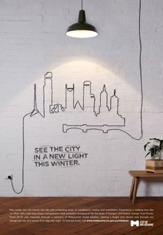 Ad by tin, an Australia graphic design studio for the City of Melbourne.