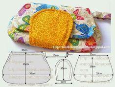 ARTE COM QUIANE - Paps,Moldes,E.V.A,Feltro,Costuras,Fofuchas 3D: molde bolsinha de mão