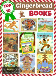 Pre-K books to read. Best Gingerbread man books for preschooelrs. Gingerbread book list for your preschool or kindergarten classroom.