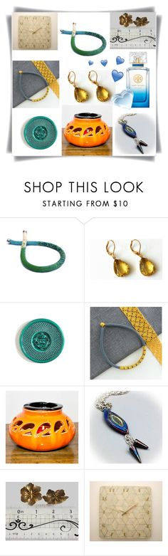 """Blue Yellow and Green!"" by colchico ❤ liked on Polyvore featuring Tory Burch and vintage"