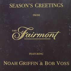 SF Fairmont Hotel Christmas Griffin & Voss Vocals Piano 2000 Cd *nMint 15trks #Christmas