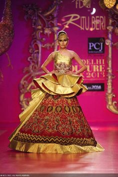 Kanika Dev walks the ramp for designer Ritu Beri on Day 4 of Delhi Couture Week, held in New Delhi, on August 03, 2013.