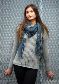 Oppskrifter - Alle gratisoppskrifter - Genser - Dame - Strikke - Norsk - Sandnes Garn Plaid Scarf, Dresser, Mom, Knitting, Winter, Pattern, Fashion, Scale Model, Threading