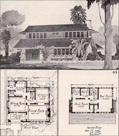 1916 Unusual Bungalow - Ideal Homes in Garden Communities - American Residential Architecture