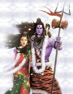 Shiv and Shakti. Rudra Shiva, Mahakal Shiva, Shiva Art, Lord Krishna, Photos Of Lord Shiva, Lord Shiva Hd Images, Kali Hindu, Hindu Art, Hindu Deities