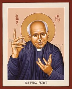 "Pedro Arrupe, SJ | Catholic Christian Religious Art - Icon by Br. Robert Lentz, OFM - From your Trinity Stores crew, ""Bless you Holy Pedro!"""