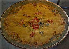 Dekorative Malerei, bemalte Tische-5