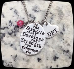 DPT, PT, PTA, Gift For Physical Therapy Staff, Rehab Office Professional Necklace, Gift, Graduation