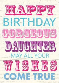 Jane Heyes - vintage text Happy Birthday gorgeous daughter.psd