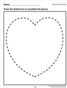 Printables Heart Worksheets heart shapes worksheets pinterest shape tracing