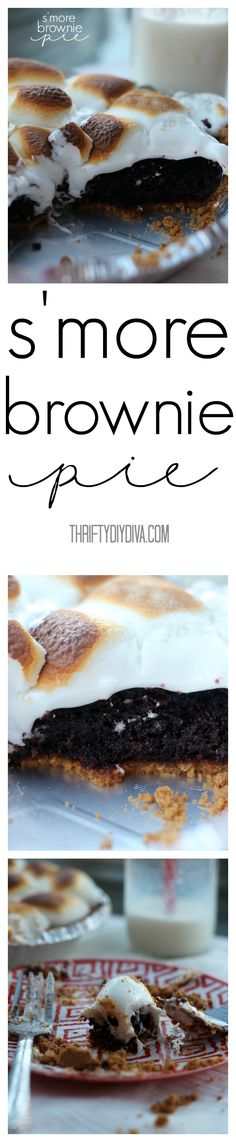 S'more Brownie Pie Pinterest F