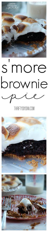 S'more Brownie Pie Pinterest F