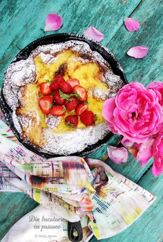 """""""Dutch baby"""" - fluffy pancake in the oven - From the kitchen, with passion Oven Pancakes, Fluffy Pancakes, Bon Appetit, My Recipes, Dutch, Cheese, Skillet, Cooking, Cast Iron"""